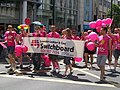 London Lesbian and Gay Switchboard banner at Pride London 2010.jpg