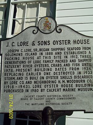 J. C. Lore Oyster House - Image: Lore Plaque Dec 08
