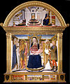 "Lorenzo di Pietro known as ""Vecchietta"" - ""Pala di Spedaletto"". Madonna with Child and Saints Biagio, John the Baptist, Nicola and Floriano; A... - Google Art Project.jpg"