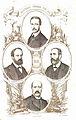 Los diputados pintados por sus hechos 02, Beránger, Herreros de Tejada, Ortiz de Zárate y Alcantú.jpg