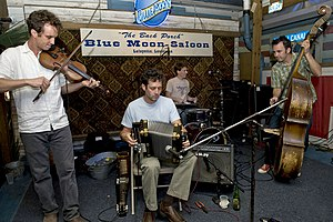 Members playing at the Blue Moon Saloon