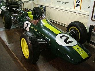 Silverstone Classic - Image: Lotus 25 Jim Clark Donington