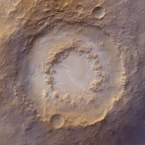 Lowell (Martian crater) - Image: Lowell crater PIA02836