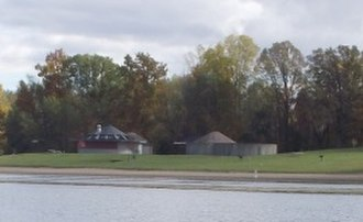 Bald Mountain Recreation Area - Image: Lower Trout Lake Bathhouse Complex and Contact Station, Lake Orion, Michigan