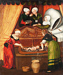 Lucas Cranach the Elder, his studio? - The Birth of John the Baptist - Google Art Project.jpg