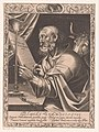 Lucas de evangelist D. Lucas Evangelistes (titel op object) De vier evangelisten (serietitel), RP-P-1906-2779.jpg