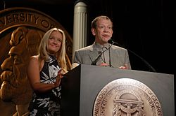 Lucy Davis and Jon Plowman, May 2004 (3).jpg
