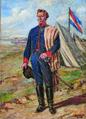 Luis Queirolo Repetto - Artigas en el campamento-1815 boceto.png