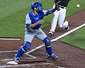 Luke Maile at home plate (34768029275).jpg