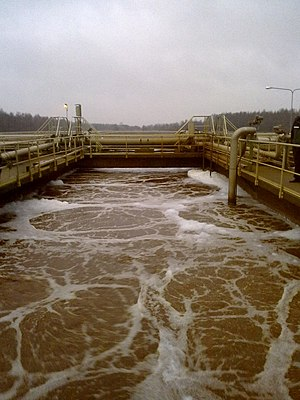 English: Wastewater treatment plant in Luotsim...