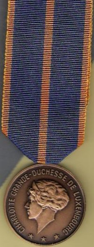 Orders, decorations, and medals of Luxembourg - The Luxembourg Military Merit Medal