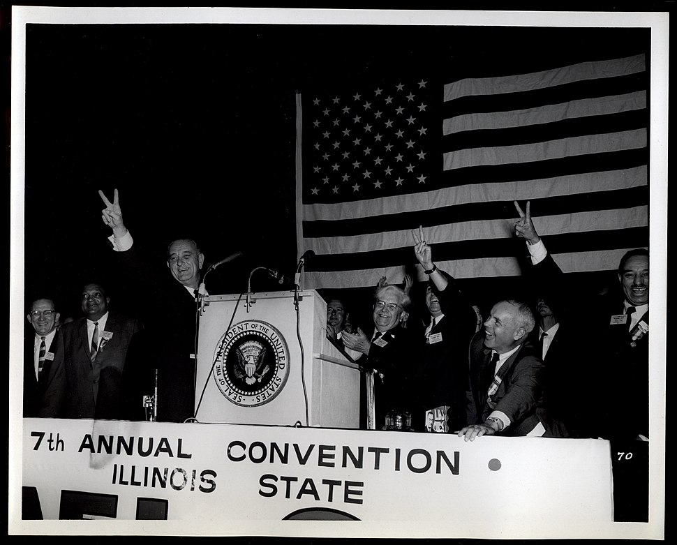 Lyndon Johnson at the 1964 Illinois AFL-CIO Convention