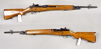M14 rifle - A rare M14 presentation model, serial No. 0010