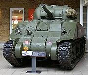 M4 Sherman tank at the Imperial War Museum