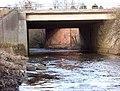 M74 bridge over the Calder - geograph.org.uk - 1554607.jpg