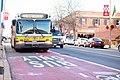 MBTA route 109 bus on dedicated bus lane, December 2018.jpg