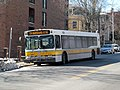 MBTA route 74 bus on Concord Avenue, March 2017.JPG
