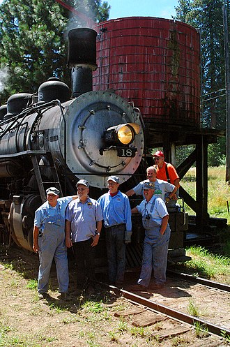 McCloud Railway - Image: MCR 18 Last Crew Mc Cloud Aug 7 2005x RP Flickr drewj 1946