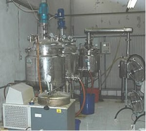 MDMA - Reactors used to synthesize MDMA on an industrial scale in a clandestine chemical factory in Cikande, Indonesia