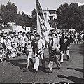 "MEMBERS OF THE WORLD WAR I JEWISH LEGION MARCHING ON THE ""JEWISH SOLDIERS DAY"" IN TEL AVIV. יום החייל היהודי בתל אביב. בצילום, חיילים יהודים אשר שירתוD817-123.jpg"