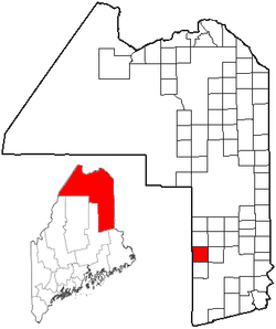 Location of Crystal, Maine