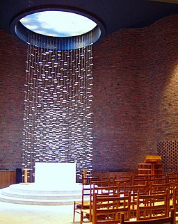 MIT Chapel, Cambridge, Massachusetts - interior. By Daderot at en.wikipedia.