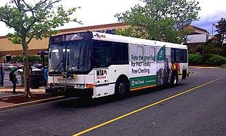 White Marsh Mall - Public transit bus outside White Marsh Mall (2011)