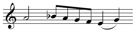 Motive from Machaut's Mass, notable for its length of seven notes. Play  (help*info) Machaut - Mass motive.png