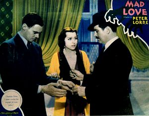 Mad Love (1935 film) - Lobby card