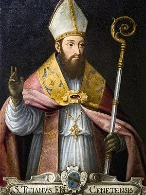 Titian of Oderzo - Image: Madonna dell'Orto (Venice) Chapel St Mauro San Tiziano, vescovo di Oderzo