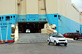 Maersk Willow unloading cars in Jacksonville, Florida.jpg