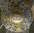 Maestro giorgio da gubbio, piatto con stemma, 1518.JPG