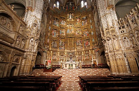 Main altar of the Cathedral of Toledo