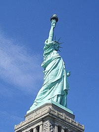 The Statue of Liberty is a very popular icon of liberty.