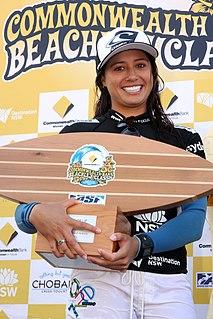 Malia Manuel American surfer
