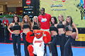 Malik Rose and the Sacramento Kings dancers and the Bobcats mascot WTF.jpg