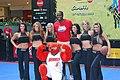 Malik Rose and the Sacramento Kings dancers and the Bobcats mascot WTF.jpg