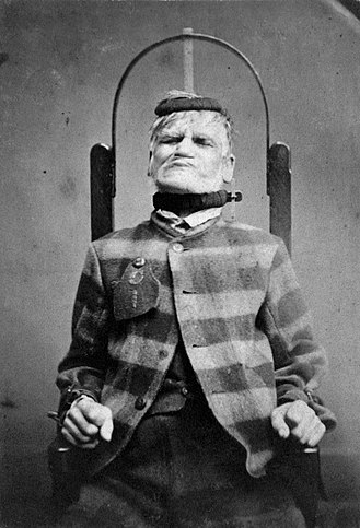 Anti-psychiatry - Internee in a restraint chair at the West Riding Pauper Lunatic Asylum