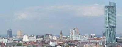 alt=The skyline of Manchester