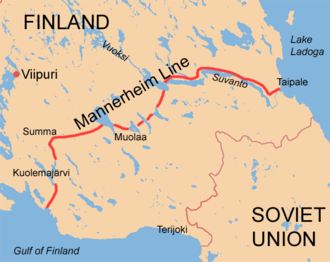 Battle of Taipale - Position of Taipale at eastern end of Mannerheim Line