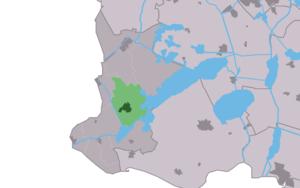 Koudum - Image: Map NL Nijefurd Koudum