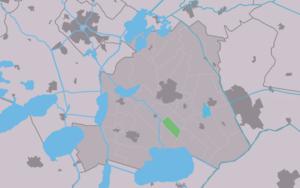Ouwster-Nijega - Image: Map NL Skarsterlân Ousternijegea