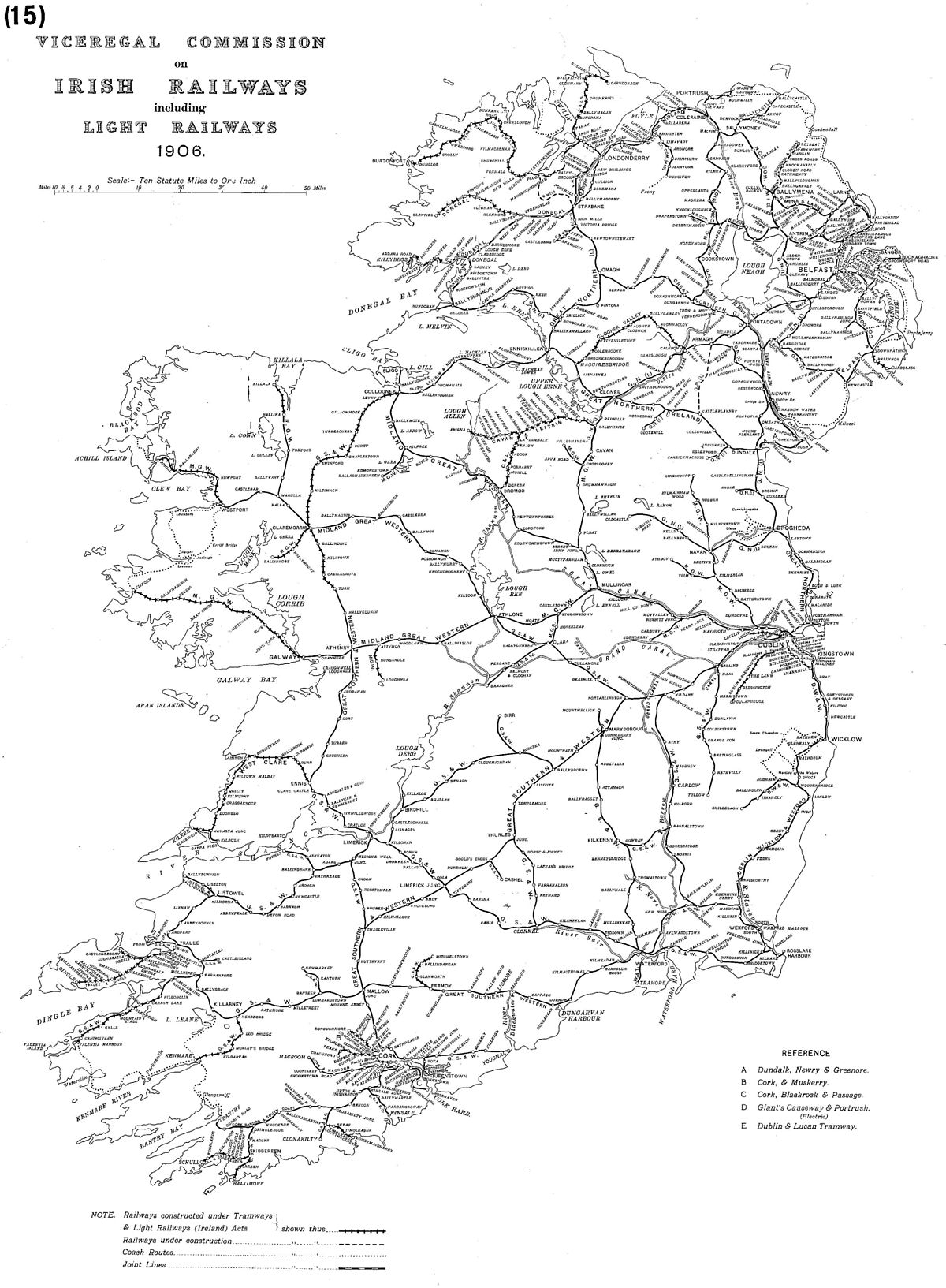 Map Of Ireland Showing Athlone.Midland Great Western Railway Wikipedia