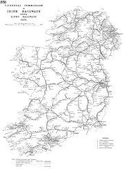 Map Rail Ireland Viceregal Commission 1906