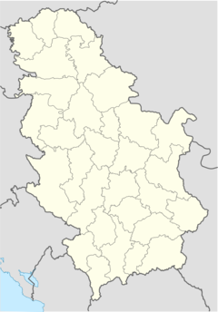 Uglë is located in Serbia