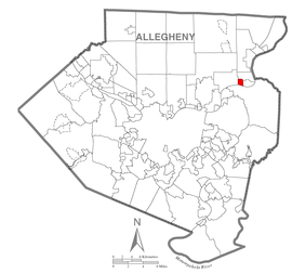 Map of Cheswick, Allegheny County, Pennsylvania Highlighted.png
