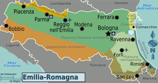 Cartina Emilia Romagna E Marche.Emilia Romagna Wikivoyage Guida Turistica Di Viaggio