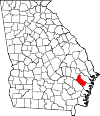 Map of Georgia highlighting Long County.svg
