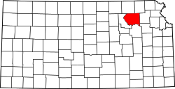 Map of Kansas highlighting Pottawatomie County.svg