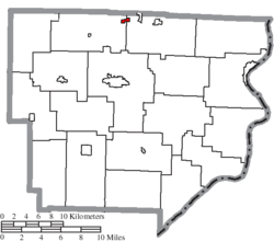 Location of Jerusalem in Monroe County
